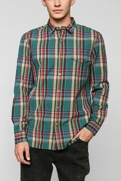 Salt Valley Willis Plaid Button-Down Shirt - Urban Outfitters