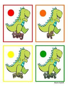 Dinosaur Themed Sight Word Center Activity...
