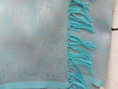 Blue Sari Scarf / Vintage Scarf / Summer by littleedenvintage