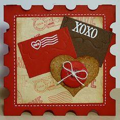 valentine's day 4 square badge