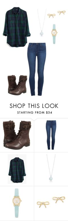"""""""Untitled #23"""" by http-txmmi on Polyvore featuring UGG Australia, Paige Denim, Madewell, Tiffany & Co. and Kate Spade"""