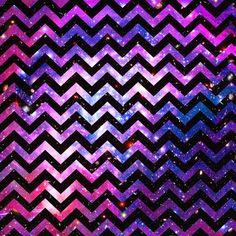 Girly chevron pattern cute pink teal nebula galaxy art print by girly