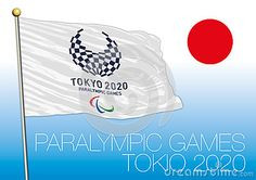 Tokio Paralympics Games 2020, logo, flag and symbol, vector file, illustration