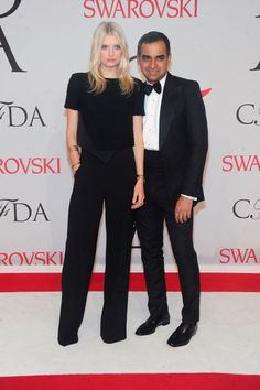 Lily Donaldson in Bibhu Mohapatra and Jennifer Fisher jewelry || 2015 CDFA Awards.