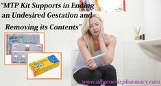 MTP Kit is formulated for the termination of pregnancy up to 9 weeks. It is used for the abortion in cases when a woman is not willing to continue with her pregnancy due to her own circumstances. This medicine is a safe and private method of abortion. Mifepristone and Misoprostol are the two parent elements of MTP Kit. https://bit.ly/2JSbfXk #MTP #abortionpills #womenhealth #unwantedpregnancy