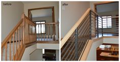 Before and after- stairwell.