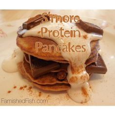 Sweet Withdrawals - S'more Protein Pancakes. My kids might like these for a special treat.
