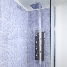 Fiji Thermostatic Shower Panel Tower System Gun Metal Chrome Mixage From Hudson Reed