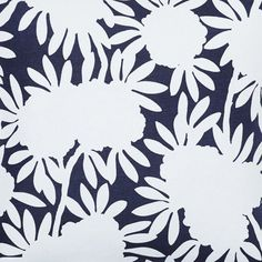 Navy Silhouette Fabric