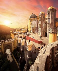 The Palace of Pena are the finest examples of nineteenth century Portuguese Romanticism and the most important part of the Cultural… Portugal, Voyager Loin, Classic Architecture, Destination Voyage, Explorer, Blog Voyage, Never Stop Exploring, Logo Nasa, Vacation Destinations