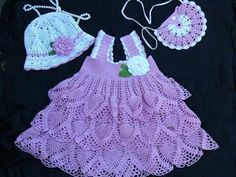Croche pro Bebe: Little dresses found on the net, pure inspiration ....purple1a