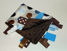 Satin Blue Brown Dot with Brown