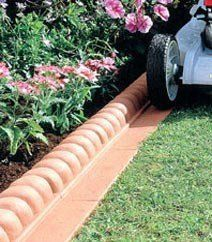 Edging for small boarder next to the side of the house