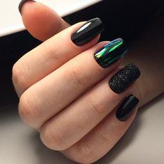 102 Easy Gel Polish Nail Art Ideas for Spring 2019 Nail Art nail art gel polish Glitter Gel Nails, Gel Nail Art, Gel Nail Polish, Gel Manicure, Acrylic Nails, Nail Art Designs, Black Nail Designs, Nails Design, Gel Nail Extensions