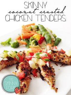 Skinny Coconut Crusted Chicken Tenders — The Skinny Fork