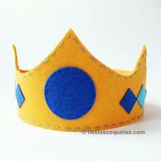 Corona rey de fieltro de venta en: http://shop.fiestascoquetas.com