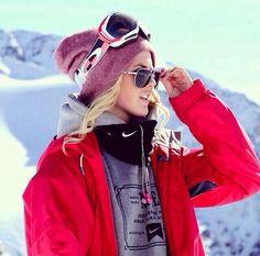 Perfect ski attire. Silje Norendal