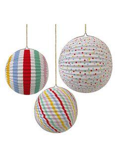 Meri Meri Paper Globe Spots and Stripes Party Decorations