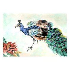 DM924G Garden Peacock Door Mat: DM924G Floor Ma