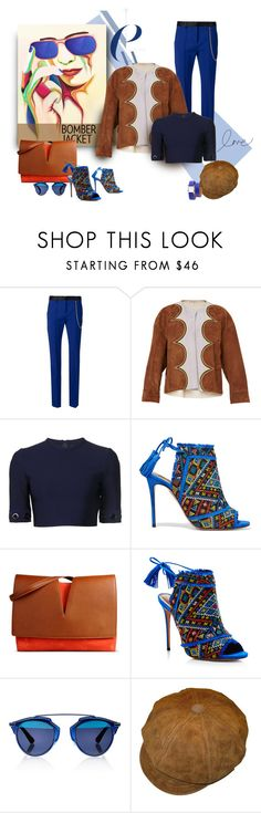"""""""Delightful Curves"""" by michelletheaflack ❤ liked on Polyvore featuring ADAM, Marni, Thierry Mugler, Aquazzura, Jil Sander, Christian Dior, Hermès, bomberjackets and polyvorecontest"""