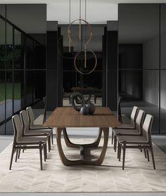 Modern Lisson Dining Table by Modloft Dining Room Chairs, Side Chairs, Dining Tables, Fine Dining, Wholesale Furniture, Design Awards, Modern Classic, Modern Interior, Home Furniture