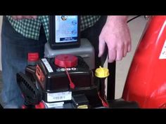 How to change the oil on a new Ariens snow blower - YouTube
