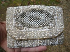 Vintage Formal 1940s 1950s Beaded Purse by KimsKreations17 on Etsy, $19.99