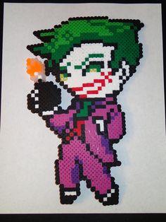 The Joker Perler beads by LittleShopOfPerlers