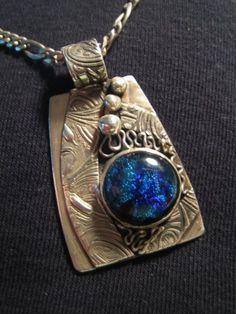 PMC pendant by Karen J. Feher