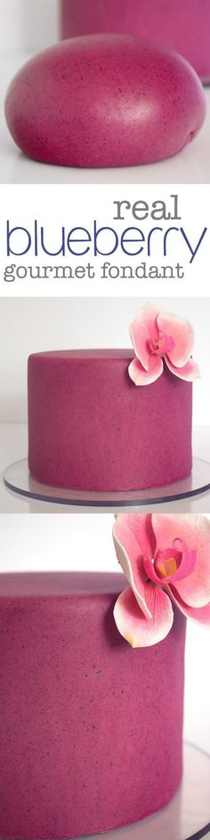 Delicious Homemade Blueberry Almond Fondant. Made… #fondant #blueberry #cake
