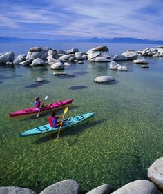 kayak around Lake Tahoe