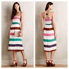 Anthropologie Sketchbook Midi Dress
