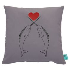 Narwhal Throw Pillow Case-Nursery by countercouturedesign on Etsy