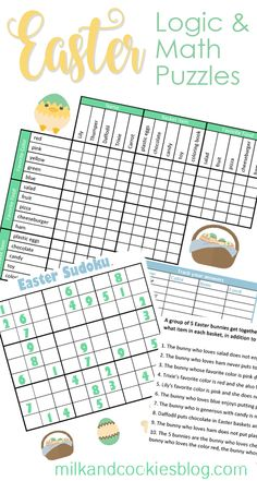 Easter Math and Logic Puzzles
