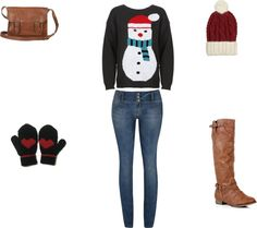 """""""snowman"""" by erinbkelly on Polyvore"""
