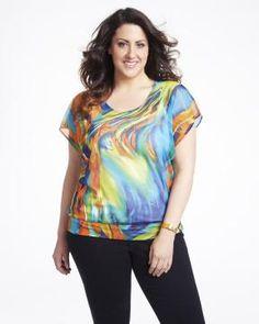 printed mesh top | Shop Online at Addition Elle #AdditionElleOntheRoad