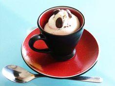 Mousse di ricotta al cioccolato bianco e caffè