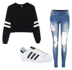 """Untitled #78"" by marshmallow788 ❤ liked on Polyvore featuring adidas"