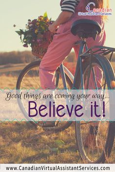 Good things are coming your way.Believe it! Affirmations, Social Media Quotes, Virtual Assistant Services, Top Quotes, Timeline Photos, Make More Money, Quotable Quotes, Business Quotes, All You Need Is