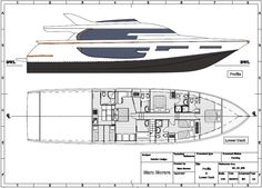Jnette 85.  This project was an interior refit using the Azimut 85 exterior lines. #interiordesign  #technicaldrawings #MMyacht