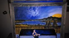 My son painted this.view from deck at the cabin. Just wanted to share Deck, Cabin, Painting, Art, Art Background, Front Porches, Cabins, Painting Art, Kunst