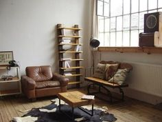 Rustic shelves from different woods