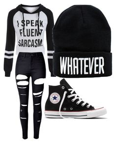 """""""Untitled #1"""" by emma623 on Polyvore featuring WithChic and Converse"""