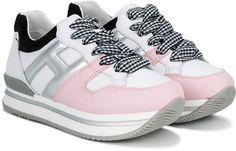 Hogan Kids Logo Colour Block Sneakers - Farfetch 29c1d2e7611