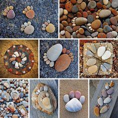 Creative Craft Ideas, Making Home Decorations with Beach Pebbles Pebble Stone, Pebble Art, Stone Art, Stone Mosaic, Pebble Mosaic, Stone Crafts, Rock Crafts, Diy Crafts, Decor Crafts
