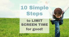 Are your kids constantly glued to their screens? Let me show you 10 simple steps you can take to limit screen time for kids for good!