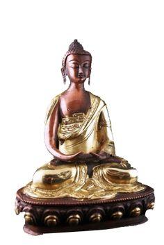 Boeddha Amithaba beeld tweekleurig - 20 cm - 1760 g -