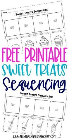 These Sequencing Worksheets for Preschoolers are great for practicing creative thinking and problem solving skills as well as having fun with sweet treats that your little kids are sure to enjoy! Grab yours today!#preschool #sequencing #sweets #baking #preschoolworksheets #sequencingworksheets