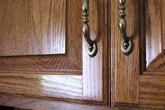 Once you're done cleaning the grease off your cabinets, make them look even better with an awesome oil finish! Polish the cabinet doors with orange, lemon, or mineral oil to give them a great looking shine!