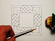 7 Drawing Tips for Beginners – Learn How To Draw Celtic Drawings, Easy Drawings, Celtic Symbols, Celtic Art, Celtic Knots, Geometric Drawing, Geometric Art, Islamic Art Pattern, Pattern Art